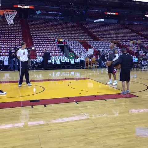 Ray Allen... #NBAFinals Game 6 preparation.